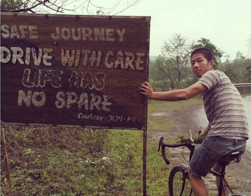 Meet A Young Man Who Is On An Inspiring Cycling Trip Around NortheastIndia!