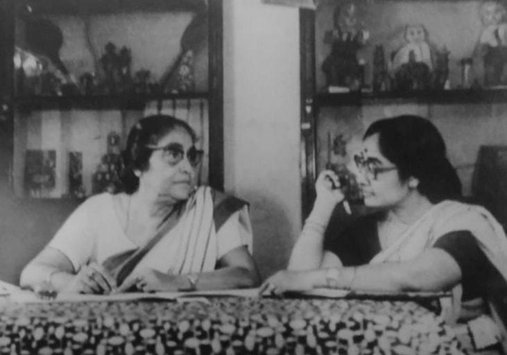Mrs. Mukherjee (left) and Mrs. Datta (right)